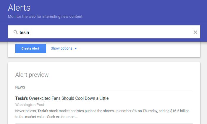 setup google alerts for mention linkbuilding