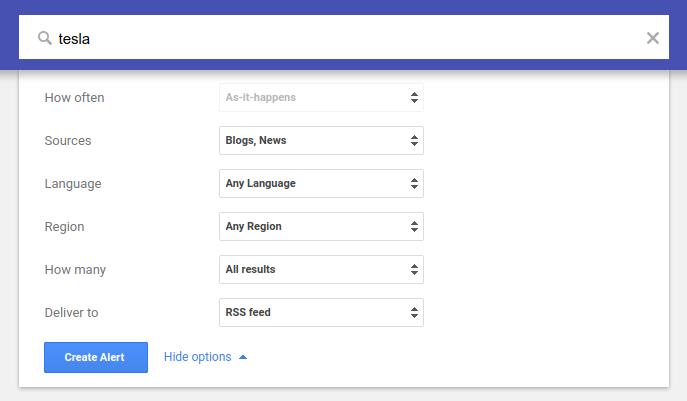 google alerts advanced setup for mention linkbuilding